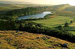 Crag Lough in Hadrian's Wall country, Northumberland © graeme peacock